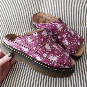 DR. MARTENS Purple Dandelion Platform Slide Sandal
